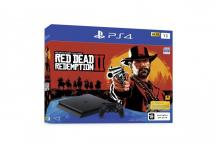 Комплект Playstation 4 Slim, 1tb (РСТ) + Red Dead Redemption 2