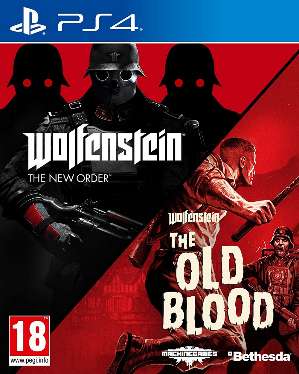 Wolfenstein Double Pack: (The New Order + The Old Blood) (PS4, русские субтитры)