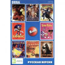 8 игр в 1 (SK-8001), Samurai + Spider Man + Tiny Toon + Second Samurai +.., Sega