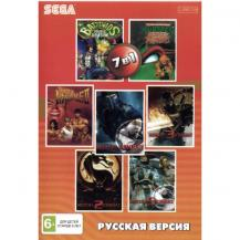7 игр в 1 (BS-7101), Bare Knuckle 2 + Battletoads + Double Dragon + Mortal Kombat +.., Sega