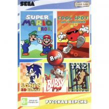 8 игр в 1 (RU-12801), Sonic 3D Blast + Super Mario Bros + Bubsy + Taz from Mars + Spot to Hollywood +.., Sega