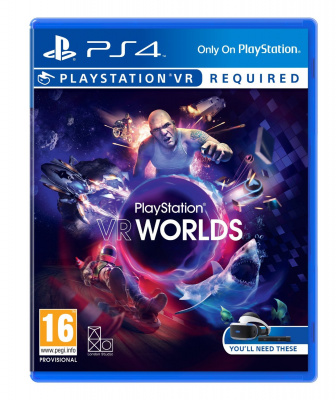 Sony PlayStation VR + игра VR Worlds
