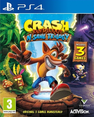 Crash Bandicoot: N'sane Trilogy (PS4, английская версия)